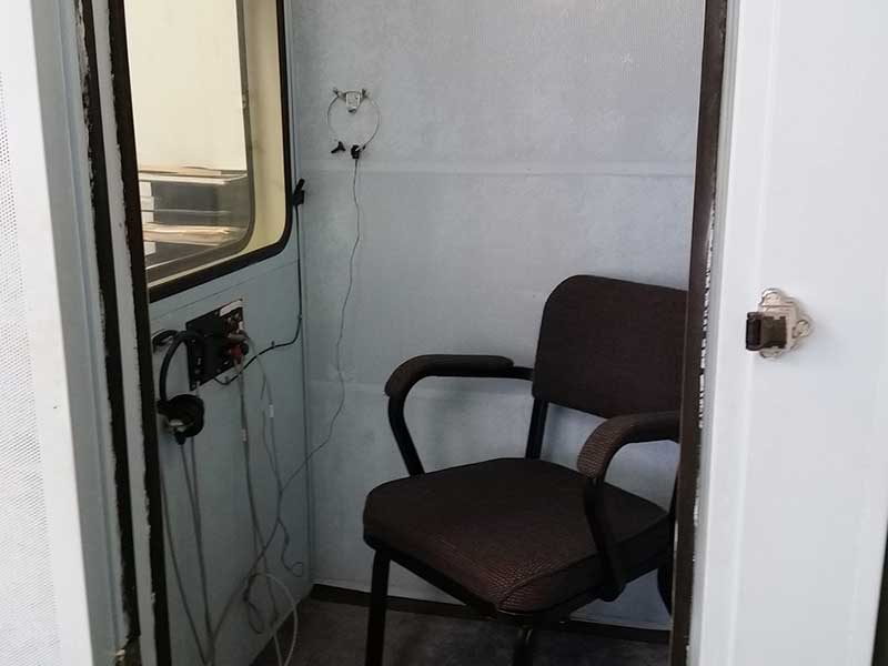 Hearing test booth at Family Hearing Center