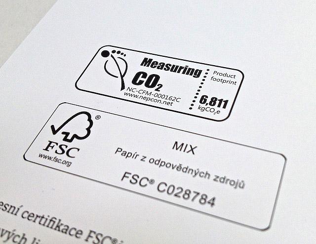 Tisk výroční zprávy s CO2 certifikací