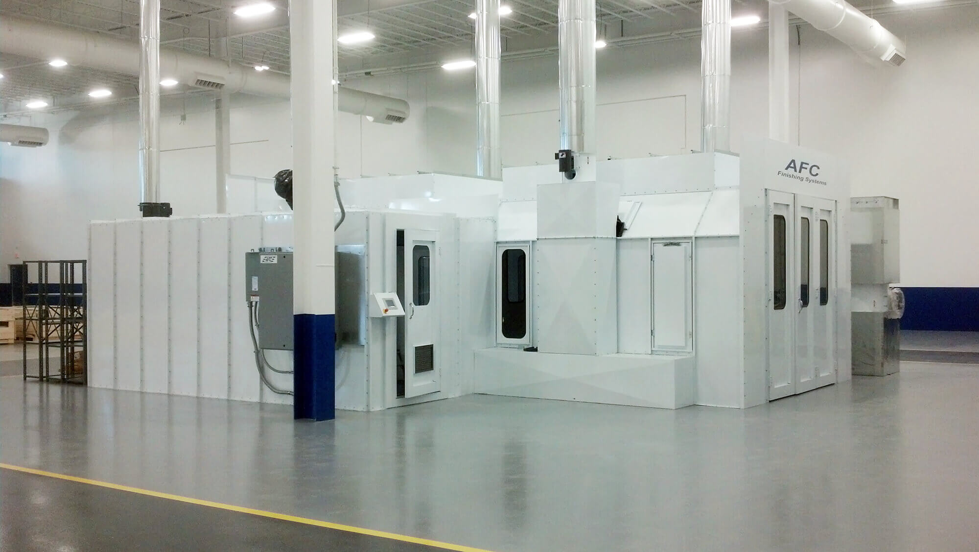 exhaust chambers benches airblast
