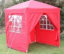 red outdoor gazebo
