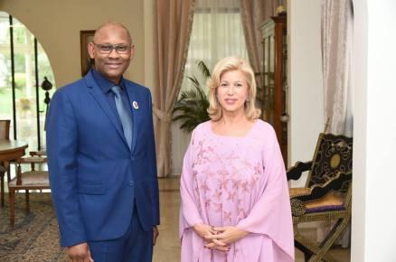 Dr Ly avec Mme Ouatara en Cote d'Ivoire mai-2017
