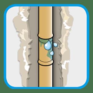 Picto couverture - Recherche et réparation d'une fuite d'eau sur une canalisation encastrée dans un mur