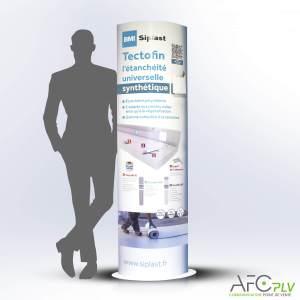 PLV Totem de Communication BMI Siplast