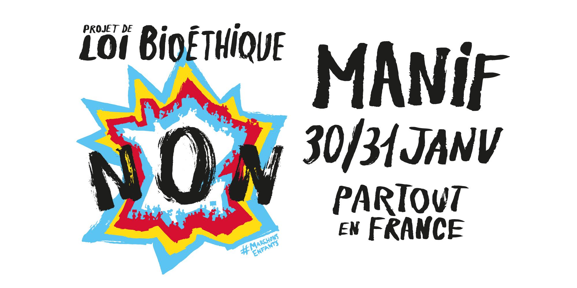 30 et 31 janvier : Manifestations « Marchons Enfants » partout en France contre la PMA sans père, la GPA et le projet de loi bioéthique