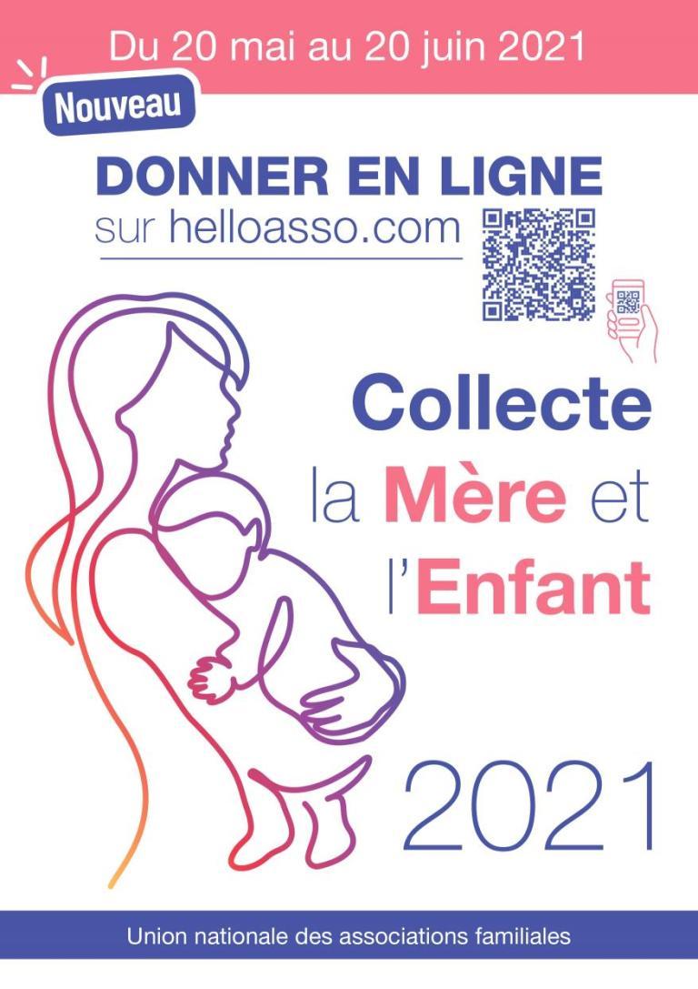 Collecte pour la Mère et l'Enfant : sous forme numérique, durant juin 2021.