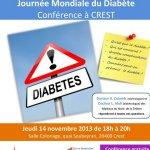 dépistage diabète à Crest 2013