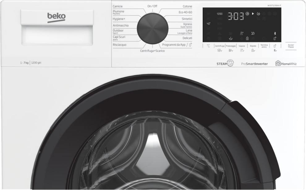 Nuova gamma lavatrici Beko a vapore