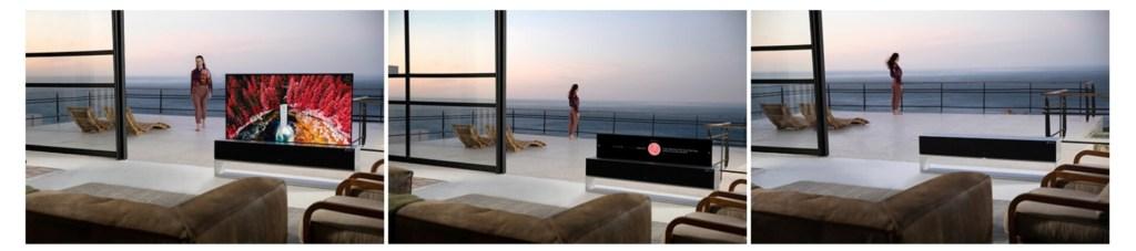 LG OLED65RX: il TV arrotolabile arriva in Corea a un prezzo da nababbi