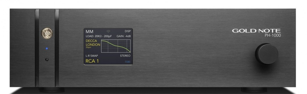 Gold Note PH-1000: pre phono tricolore dall'anima high-end