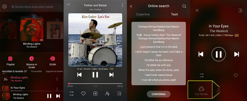 Musica HiREs in auto_Fiio