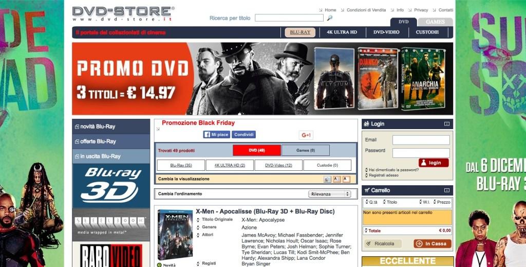 black friday dvd store