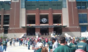 Entering Lambeau Field