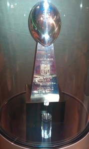 One of four Lombardi Trophies