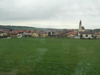 View from the train into Austria