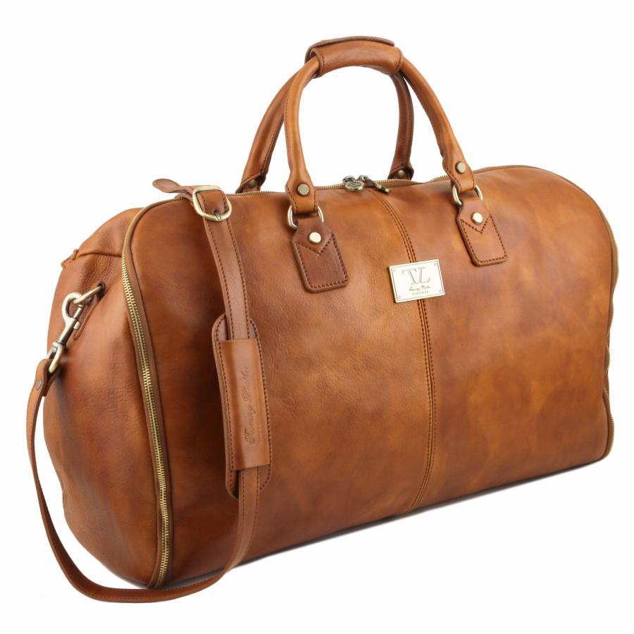 Sac De Voyage Housse Cuir Mat Pleine Fleur Tuscany Leather
