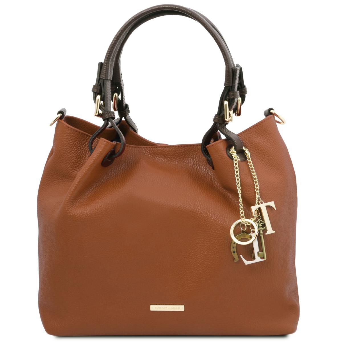 sac fourre tout cuir souple femme tuscany leather