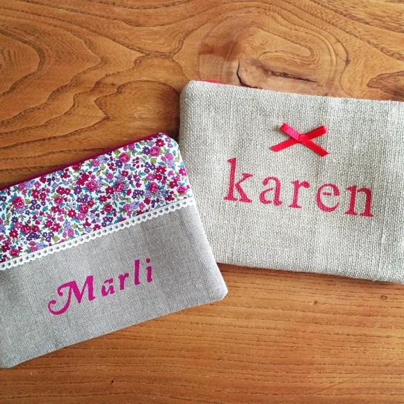 Pochettes Marli & Karen