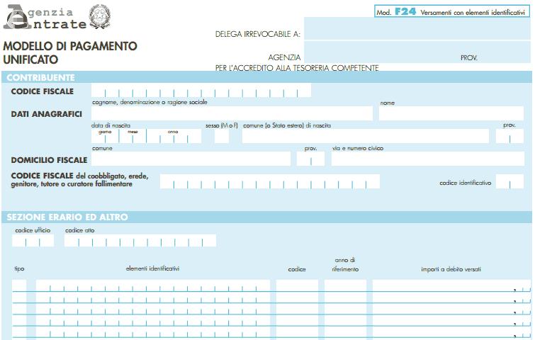 F24 Editabile Come Compilare Il Modulo Per Lagenzia Delle