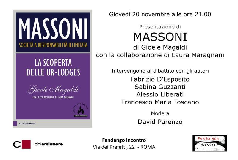 Presentazione Massoni Gioele Magaldi 20 novembre 2014 big