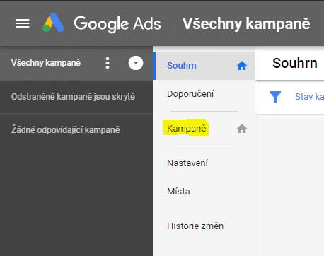 Google Ads kampaň