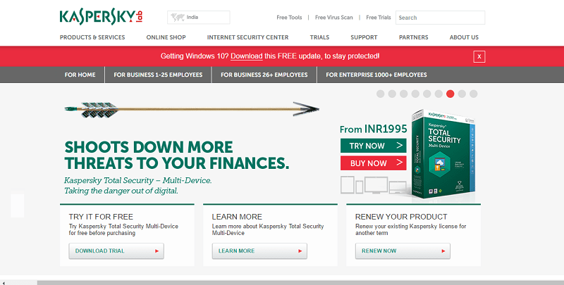 kaspersky renewal coupon code india