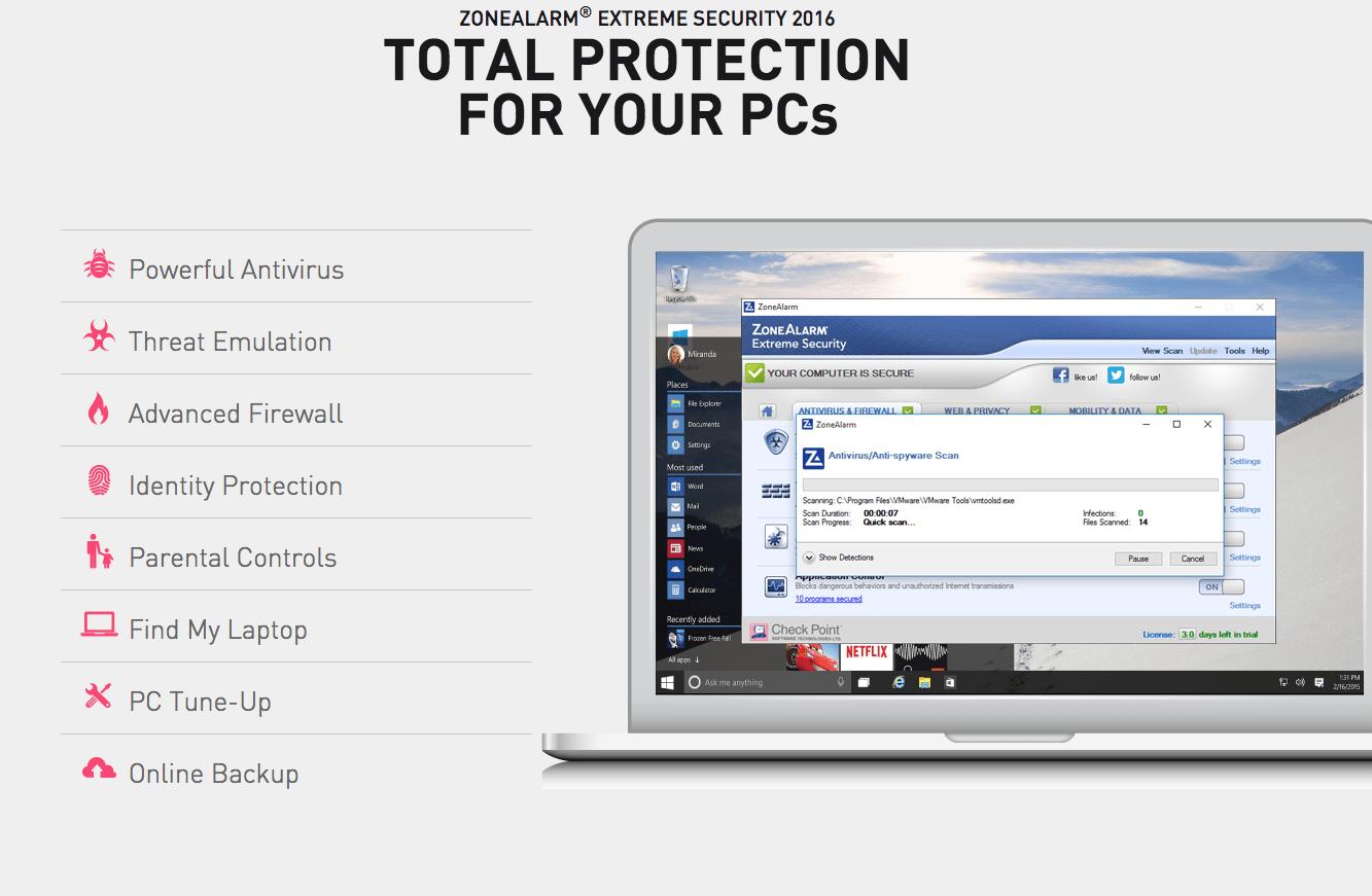zonealarm pro firewall 2016 license key