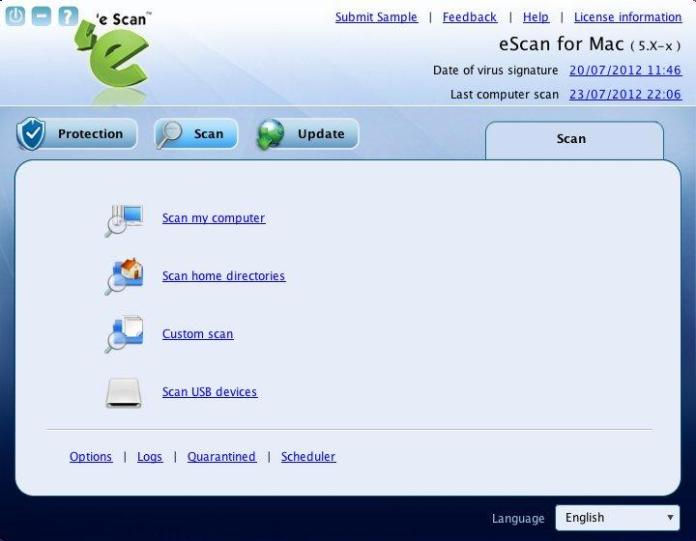 eScan antivirus features