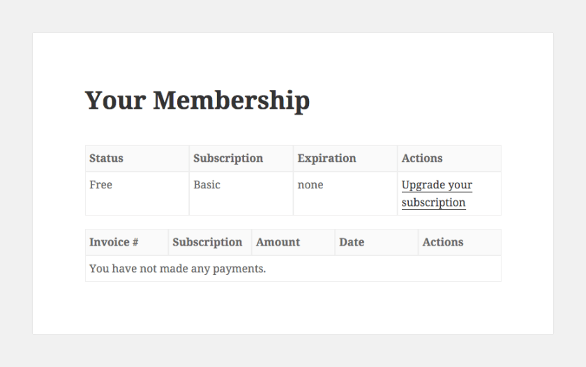 Membership information- restrict content pro