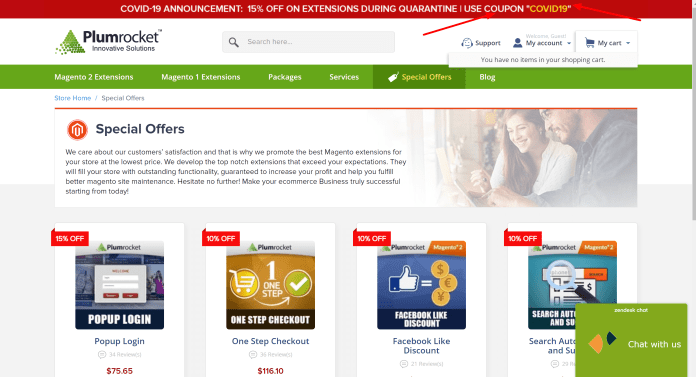 Plumrocket Magento extensions special offer
