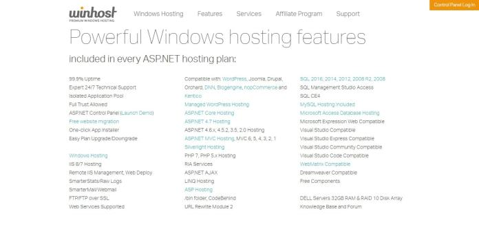winhost couppons - powerful windows hosting