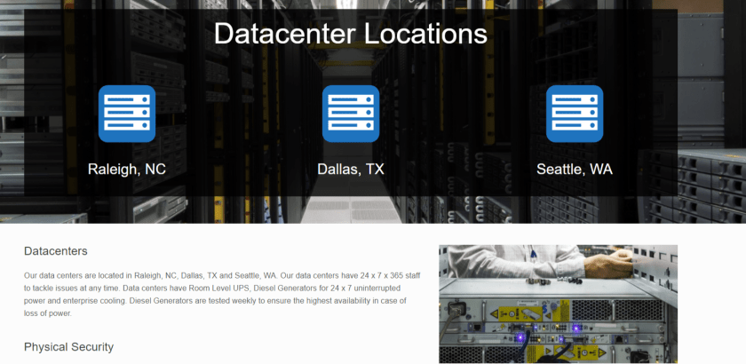 3Essentials Hosting Coupon Codes - Datacenter Locations