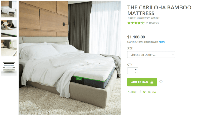 Cariloha Bamboo Coupon Codes- Mattress Range