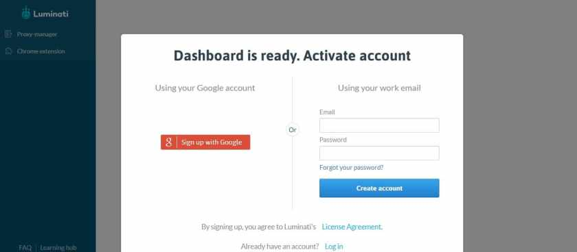 Dashboard - Account Activation