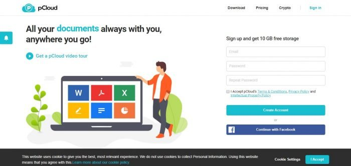 pcloud discount coupons - Login Page