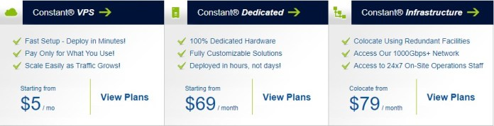 Constant Hosting Coupon Deals - Price Plan