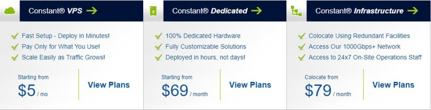 Constant Hosting Discount Coupon - Price Plan