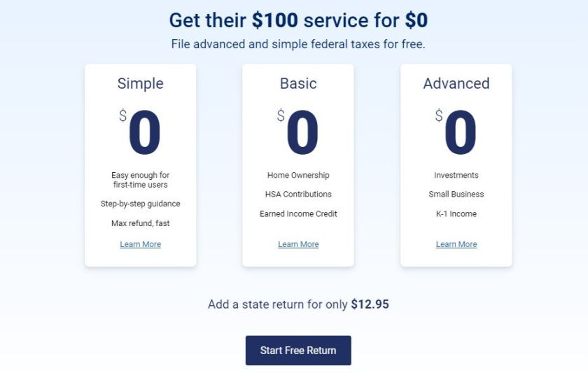 FreeTaxUSA-home-page-price