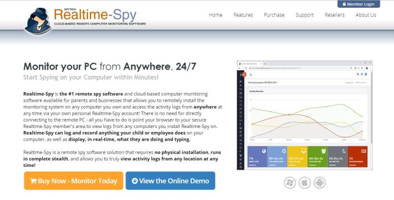 Realtime-Spy-Review-home-page