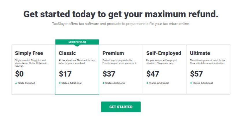 TaxSlayer-home-page-price
