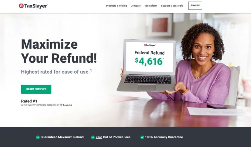 TaxSlayer-home-page