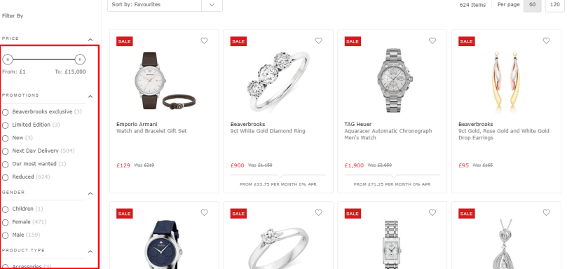 Beaverbrooks pricing with coupons