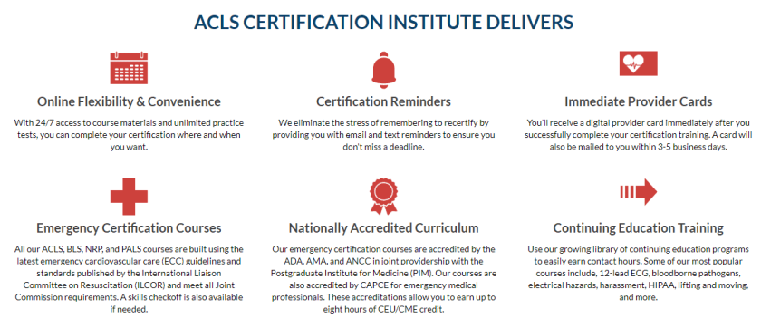 ACLS courses - Acls certification institute delivers