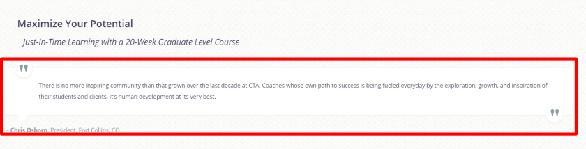 Review on coach alliance training