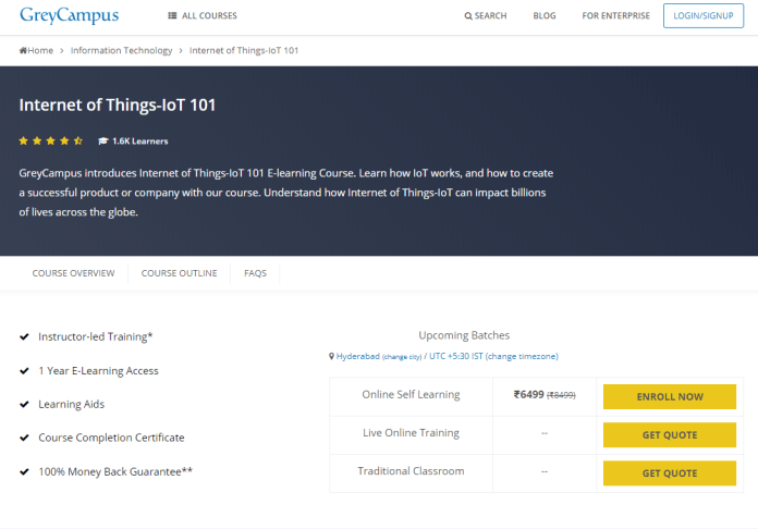 GreyCampus Coupon Codes- Internet of Things IoT 101