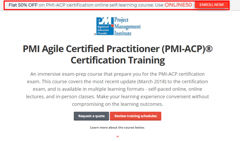 GreyCampus Coupon Codes- PMI ACP® Certification Training