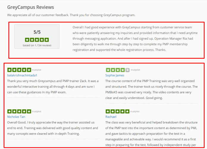 Testimonials - Grey campus Reviews