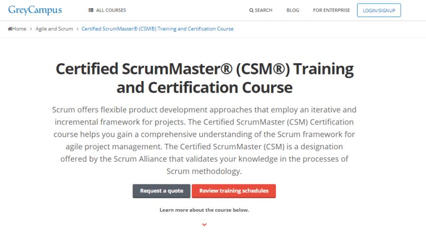 GreyCampus Coupon Codes- Scrum Master training