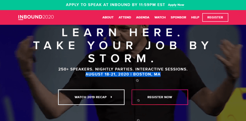 INBOUND 2020 - Marketing Conference
