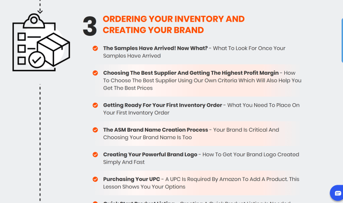 Order inventory and creating brand- Amazing Selling Machine