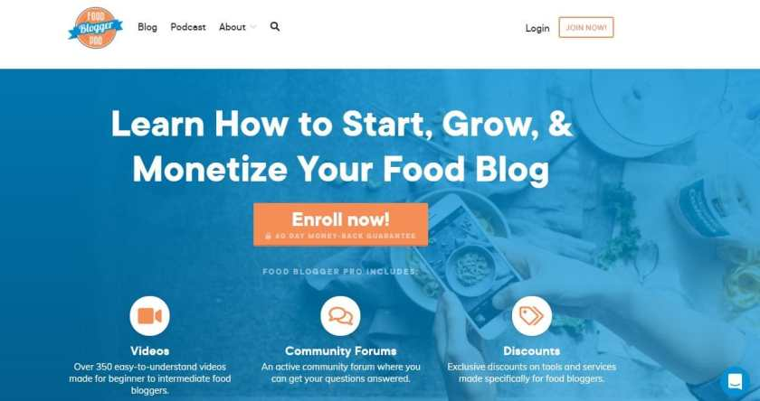 Blogging Courses Food Blogger Pro